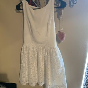 White dress lace skirt from francesca's boutique